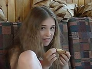 Kinky Russian teen slut gets banged by an old guy