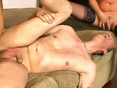 mILF Slut With Two Bisex guys