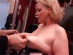 My Sexy Piercings Pierced mature slave nailed tits