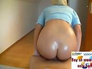 Hot blonde, young ass