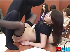 Japanese girl creampie fuck