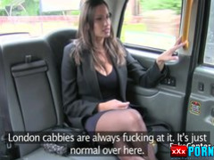 Black stocks busty fucked in taxi