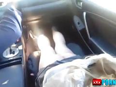 ass punishment in a car