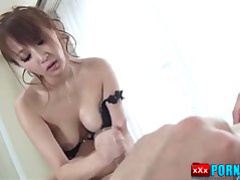Anna Mizukawa enjoys a piece of cock at work