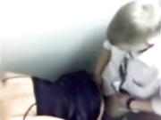 Drunken graduate school fuck in the school toilet. Hidden camera porn