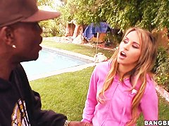 Aleska Diamond is seducing black men today. Who will be the happy one to fuck her