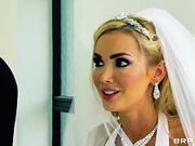 Defiant blonde Devon seduces her husband at the marriage