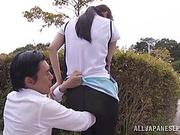 Amazing Japanese AV Model is a horny teen getting outdoor sex